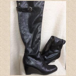 Sexy Franco Sarto knee high boots wedge 💋